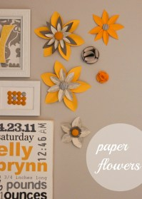 Paper Flower Wall Art - Inspired by Family