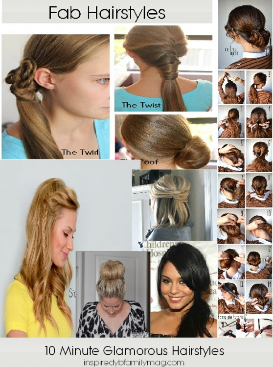 8 Fabulous Hairstyles That Take Less Than 10 Minutes Inspired By