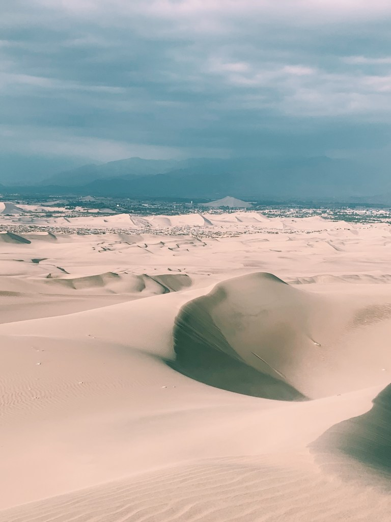 Sand Mountains in Huacachina, Peru