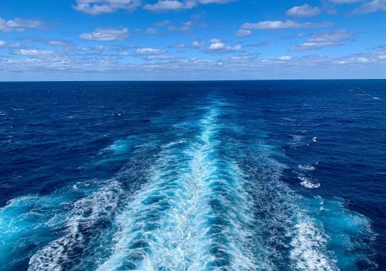 Waves in Caribbean Ocean