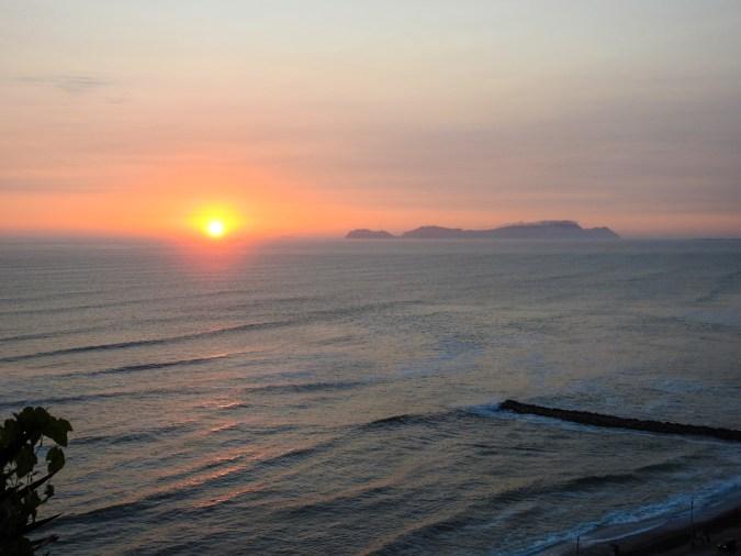 Sunset over Miraflores, Peru