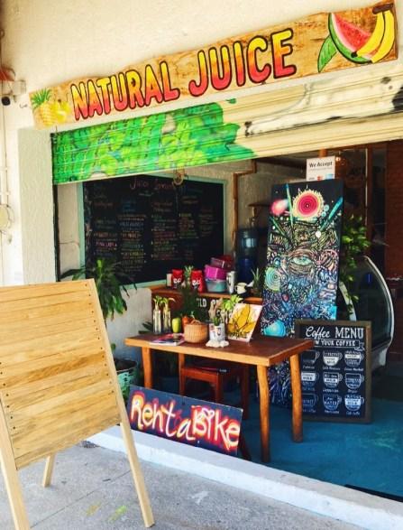 Outside Natural Juice Cafe