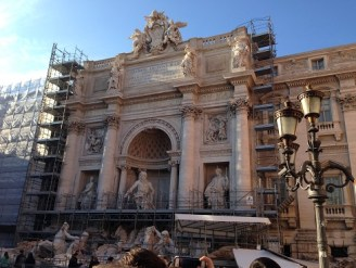 The Trevi Fountain in Rome  - Under restoration but still amazing.