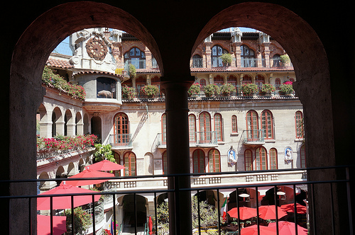 The inner courtyard of the Mission Inn.  Photo Credit: Little Koshka via Compfight cc
