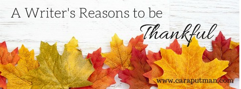 A Writer's Reasons to be Thankful