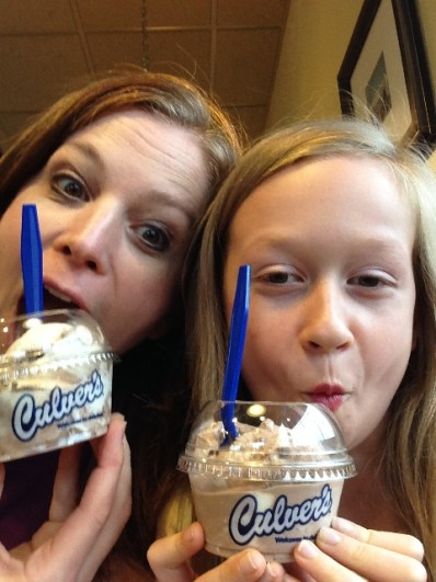 Silly selfies at Culvers