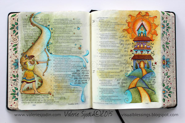 Psalm 25-27-Bible Journaling-Valerie Sjodin