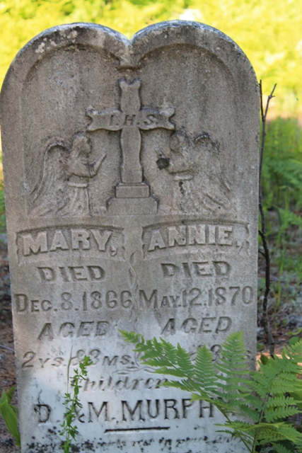 One of the headstones in the cemetery. Notice how specifically they marked the age of death! (2 years 3 months)