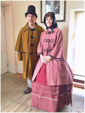 Michelle & Mark Griep . . . Victorians for a day.