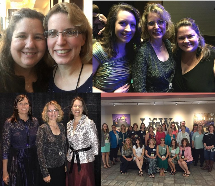 Author friends - Carol Moncado, Natalie Monk, Kristi Ann Hunter, Katie Cushman, Sarah Loudin Thomas, and the entire lineup from Baker Books