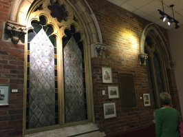 Wall and stained-glass windows from the actual First Baptist Church Building where the founder of Lifeway officed.
