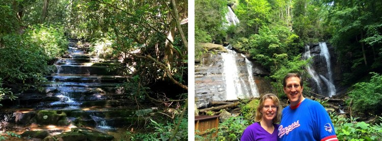 Angel Falls on the Left and Anna Ruby Falls on the Right. Anny Ruby was our favorite of Day 2.