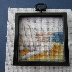 Beach Chair Photo Frame Wicker Wingback Chairs Cross Stitch | Inspired By The Sea