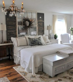 48+ beautiful Farmhouse Style Master Bedroom Ideas 15