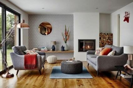 52+ Amazing Mid Century Living Room Decor Ideas 31