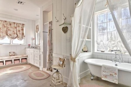 25+ Beautiful Shabby Chic Romantic Bathroom Ideas (27)
