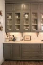 70+ Amazing Farmhouse Gray Kitchen Cabinet Design Ideas 23