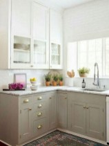 70+ Amazing Farmhouse Gray Kitchen Cabinet Design Ideas 24