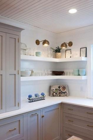 70+ Amazing Farmhouse Gray Kitchen Cabinet Design Ideas 44