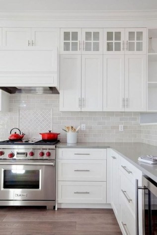 70+ Amazing Farmhouse Gray Kitchen Cabinet Design Ideas 45
