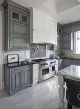 70+ Amazing Farmhouse Gray Kitchen Cabinet Design Ideas 48