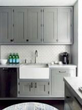70+ Amazing Farmhouse Gray Kitchen Cabinet Design Ideas 49