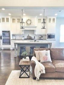 70+ Amazing Farmhouse Gray Kitchen Cabinet Design Ideas 51