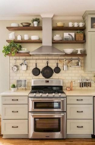 70+ Amazing Farmhouse Gray Kitchen Cabinet Design Ideas 53