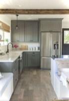 70+ Amazing Farmhouse Gray Kitchen Cabinet Design Ideas 67