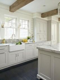 70+ Amazing Farmhouse Gray Kitchen Cabinet Design Ideas 73