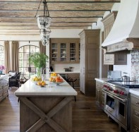 75+ Rustic Farmhouse Style Kitchen Makeover Ideas 08