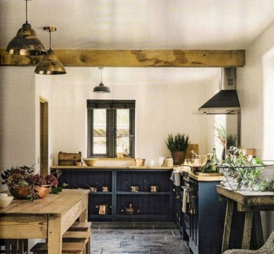 75+ Rustic Farmhouse Style Kitchen Makeover Ideas 12