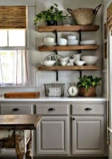 75+ Rustic Farmhouse Style Kitchen Makeover Ideas 32