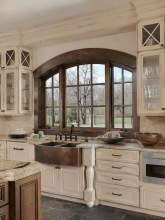 75+ Rustic Farmhouse Style Kitchen Makeover Ideas 49