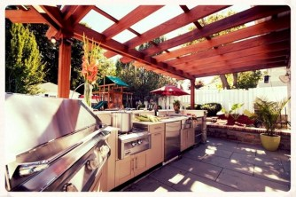 45+ Awesome Cooking With Amazing Outdoor Kitchen Ideas (23)