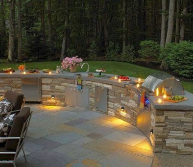 45+ Awesome Cooking With Amazing Outdoor Kitchen Ideas (36)