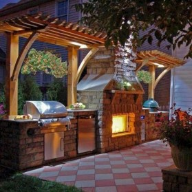 45+ Awesome Cooking With Amazing Outdoor Kitchen Ideas (45)