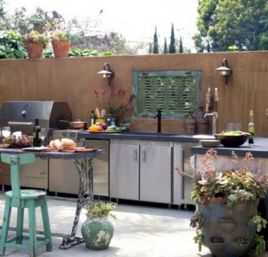45+ Awesome Cooking With Amazing Outdoor Kitchen Ideas (6)