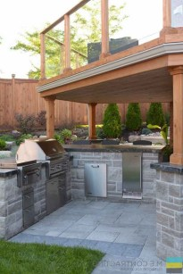 45+ Awesome Cooking With Amazing Outdoor Kitchen Ideas (9)
