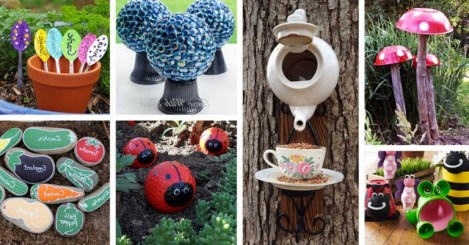 53+ Beautiful DIY Outdoor Garden Crafts Ideas to Make Your Garden More Beautiful (23)