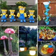 53+ Beautiful DIY Outdoor Garden Crafts Ideas to Make Your Garden More Beautiful (42)