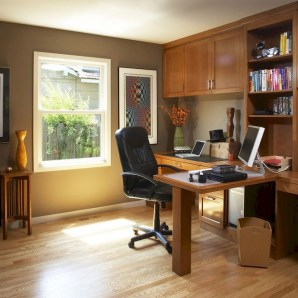 56+ Stunning Moody Mid Century Home Office Decor Ideas (1)