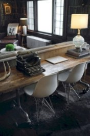 56+ Stunning Moody Mid Century Home Office Decor Ideas (28)
