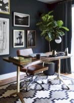 56+ Stunning Moody Mid Century Home Office Decor Ideas (48)