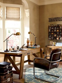 56+ Stunning Moody Mid Century Home Office Decor Ideas (55)