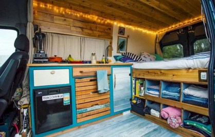82+ Inspiring RV Camper Van Interior Design and Organization Ideas (24)