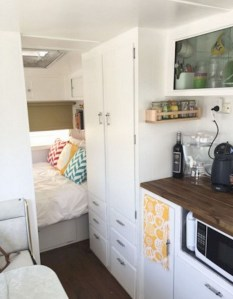 82+ Inspiring RV Camper Van Interior Design and Organization Ideas (49)