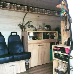 82+ Inspiring RV Camper Van Interior Design and Organization Ideas (64)