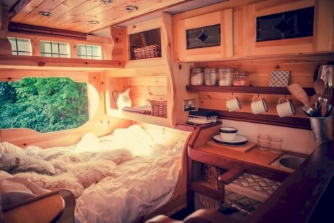 82+ Inspiring RV Camper Van Interior Design and Organization Ideas (70)