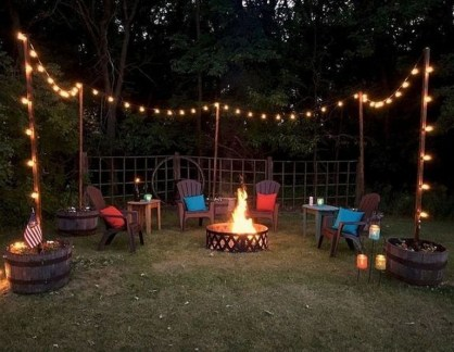26+ Awesome DIY Fire Pit Plans Ideas With Lighting in Frontyard (1)